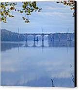 West Trenton Railroad Bridge Canvas Print by Bill Cannon