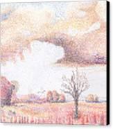 Western Vista - Rain Canvas Print by William Killen