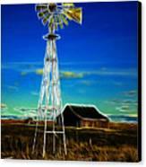 Western Windmill Canvas Print by Steve McKinzie