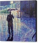 Wet Night Canvas Print by Susan DeLain