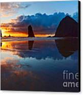 Wet Paint - Sunset In Oregon Canvas Print