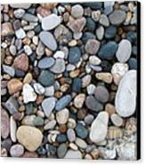 Wet Pebbles Canvas Print by Margaret McDermott