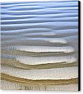 Wet Sand Texture On Ocean Shore Canvas Print by Elena Elisseeva