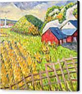 Wheat Harvest Kamouraska Quebec Canvas Print by Patricia Eyre