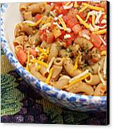 Wheat Pasta Goulash Canvas Print by Andee Design