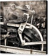 Wheel And Steam Canvas Print by Olivier Le Queinec