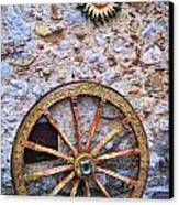 Wheel And Sun In Taromina Sicily Canvas Print