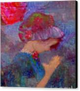 When Emmy Prays Canvas Print by Deborah Montana