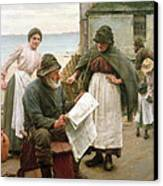 When The Boats Are Away Canvas Print by Walter Langley