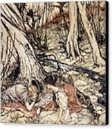 Where Often You And I Upon Fain Primrose Beds Were Wont To Lie Canvas Print by Arthur Rackham