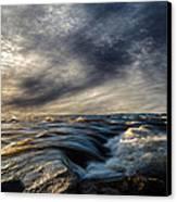 Where The River Kisses The Sea Canvas Print