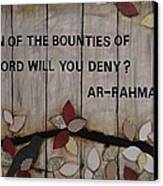 Which Favors Will You Deny? Canvas Print by Salwa  Najm