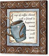 Whimsical Coffee 2 Canvas Print by Debbie DeWitt