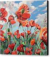 Whispering Poppies Canvas Print by Andrei Attila Mezei