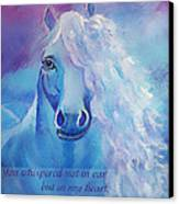 Whispers To My Heart Canvas Print by The Art With A Heart By Charlotte Phillips