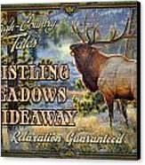 Whistling Meadows Elk Canvas Print by JQ Licensing