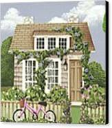 Whitby Cottage Canvas Print by Catherine Holman