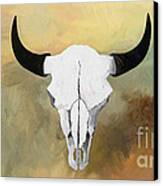 White Buffalo Skull Canvas Print by GCannon