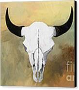 White Buffalo Skull Canvas Print