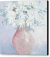 White Chrysanthemums Canvas Print by Jan Matson