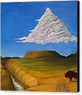 White Cloud Canvas Print by John Lyes