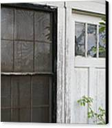 White Door Black Window Screen Canvas Print by Paulette Maffucci