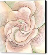 White Gardenia 1 Canvas Print by Anna Skaradzinska