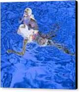 White Hair Blue Water 4 Canvas Print