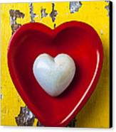 White Heart Red Heart Canvas Print by Garry Gay