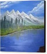 White Mountains Canvas Print by Haleema Nuredeen