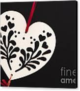 White On Black Canvas Print by Anne Gilbert