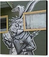 White Rabbit Canvas Print by Lne Kirkes