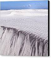 White Sand Canvas Print by Frits Selier