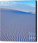 White Sand Patterns New Mexico Canvas Print by Bob Christopher