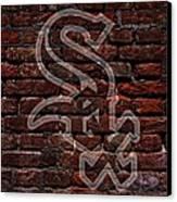 White Sox Baseball Graffiti On Brick  Canvas Print by Movie Poster Prints