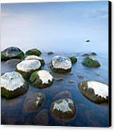 White Stones In The Water Canvas Print by Anna Grigorjeva