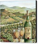 White Wine Lovers Canvas Print by Marilyn Dunlap