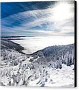 Whitefish Inversion Canvas Print by Aaron Aldrich