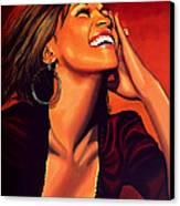 Whitney Houston Canvas Print by Paul Meijering