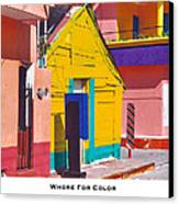 Whore For Color Canvas Print by Lorenzo Laiken
