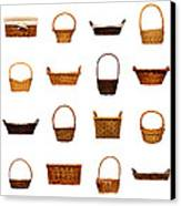Wicker Basket Collection Canvas Print