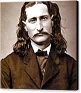 Wild Bill Hickok Painterly Canvas Print by Daniel Hagerman