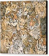 Wild Cat Spread Canvas Print
