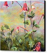 Wild Columbines Canvas Print by Lenore Gaudet