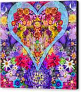Wild Flower Heart Canvas Print by Alixandra Mullins