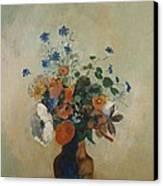 Wild Flowers Canvas Print by Odilon Redon