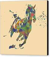 Wild Horse Canvas Print by Soumya Bouchachi