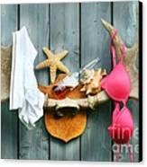 Wild Summer Cottage Weekend Canvas Print by Sandra Cunningham