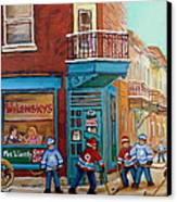 Wilensky Montreal-fairmount And Clark-montreal City Scene Painting Canvas Print by Carole Spandau