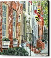 William Street Summer Canvas Print by John Schuller